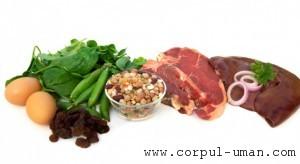 Alimente pentru anemie